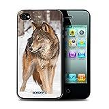 Stuff4 Coque de Coque pour Apple iPhone 4/4S / Loup Design/Animaux sauvages...