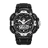 Herren Uhren Schwarz Militär Digital Wasserdichte Sportuhr Multifunktions-Elektronik-LED Beleuchtet Armband-Uhren Mode-beiläufiges Design Schlag-beständiges Sport-Uhren für Männer Jungen Teenages