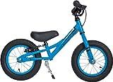 Prometheus Laufrad ab 2 oder 3 Jahre mit Bremse für Junge und Mädchen | 12 Zoll in Blau Schwarz