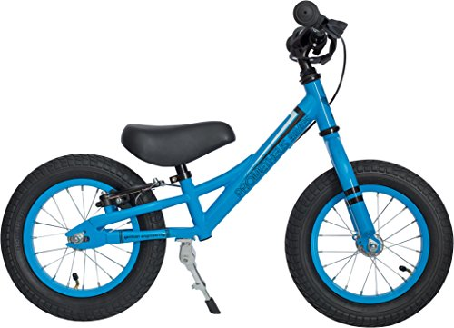 PROMETHEUS Kinderlaufrad 12 Zoll Junge in Blau Schwarz | Sicherheits - Laufrad mit V-Brake Bremse | ab 2,5 Jahren | 12