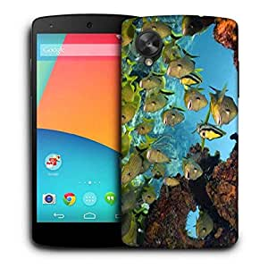 Snoogg Group Of Fish Printed Protective Phone Back Case Cover For LG Google Nexus 5