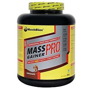 MuscleBlaze Mass Gainer Pro, Chocolate, 3kg