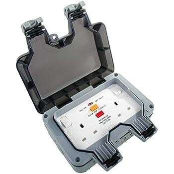 Schneider GWPIU3020 Weatherproof External Twin Switch Socket