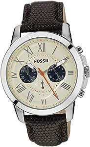 Fossil End-of-Season Grant Analog Beige Dial Men's Watch -FS5021
