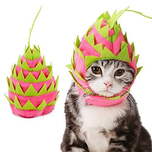 tüm Kleidung Hund Haustier Hund Katze Pitaya Fruit Design Haustier Hut Hund Katze Party Urlaub Kostüme ()