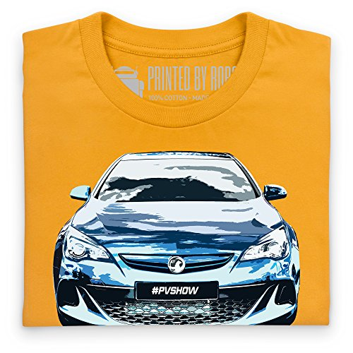 Vauxhall Astra VXR T-Shirt, Herren Gelb