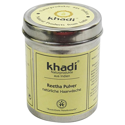 KHADI - Reetha Powder - Gentle cleansing for oily skin & hair - Replaces every shampoo & shower gel - Alleviates skin impurities by Yumi Bio Shop -