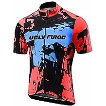 Uglyfrog Maglia Ciclismo Primavera/Estate Uomo Modo Di Sport Esterni Di Panno Morbido Ciclismo Magliette Triathlon Abbigliamento DXMZ03