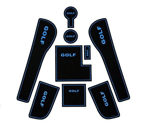 Preisvergleich Produktbild Rutschfestes Matten-Set für Türfach,  Getränkehalter,  für VOLKSWAGEN VW GOLF 7 (ab 2013)