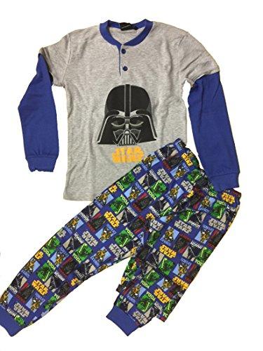 Pigiama bambino Star Wars cotone interlock *03737 guerre stellari-8 anni-grigio melange