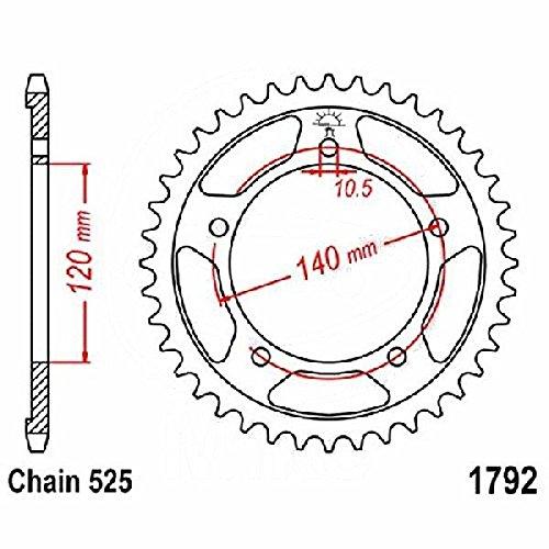 Preisvergleich Produktbild jtSprockets Kettenrad Suzuki GSR UE 2011 43 Zähne 525 JTR1792.43