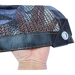 mmmy Filet d'Ombrage Abri Voiture UV Ombrage Pergola Serre Jardin Grangé Voile d Ombrage Rectangulaire Toile d'Ombrage,Noir 3 Broches, Disponible dans Une variété de Tailles