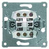 PEHA 00110911 Grundelement Doppeltaster mit Schraubklemmen für alle Unterputz-Programme 10 A 250 V, Wechseltaster (Schraubanschluss)