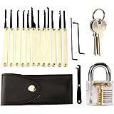 monstercube 11 pi ces kits de crochetage outils cadenas transparent pour serrurier d butant. Black Bedroom Furniture Sets. Home Design Ideas