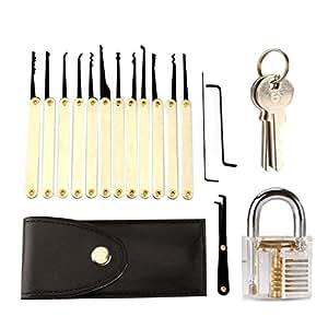 serratura apertura per esercizi yokkao con 2 chiavi e lock picking set 12 per principianti. Black Bedroom Furniture Sets. Home Design Ideas