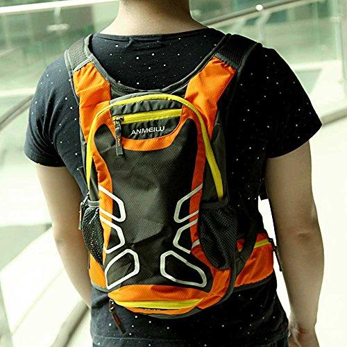 Docooler Outdoor impermeabile borsa a tracolla zaino trekking zaino da ciclismo campeggio corsa borsa acqua 15L, Red Orange