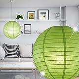MIA Light Moderne Hängeleuchte in Kugelform aus Papier in grün
