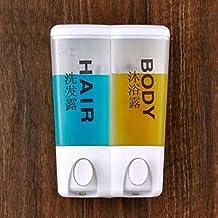 YYF Dispensadores de jabón Hotel Double-headed dispensador de jabón de suspensión de pared Baño Caja Shampoo Botella Jabón Dispensador Jabón Botella Para Jabón Máquina Botella de baño ( Color : A )