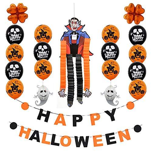 (Quaan niedlich kreativ glücklich Halloween Party Flagge Haushalt Kinder Zimmer Dekoration Terror Lieferungen Requisiten Kostüm Gefälligkeiten Cosplay Vampir Zombie Geschenk Festival Dekorationen)