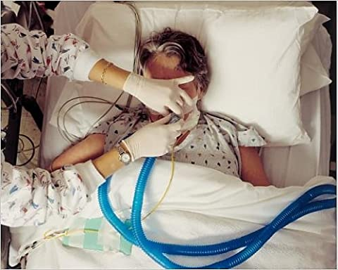 Photographic Print of Disconnecting Ventilator Removing Life Support