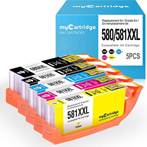 MyCartridge kompatibel Canon PGI-580 CLI-581 XXL Tintenpatronen mit CHIP für Canon PIXMA TS6150 TS6151 TR7550 TS8150 TS8151 TS8152 TR8550 TS9150 TS9155 Drucker