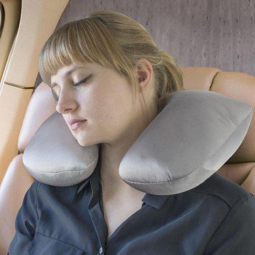 high-road-suave-viaje-2-en-1-cuello-y-lumbar-almohada-de-viaje-gris