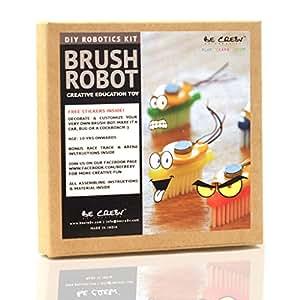 Be Cre8v Brush Bot Diy Robotics Kit