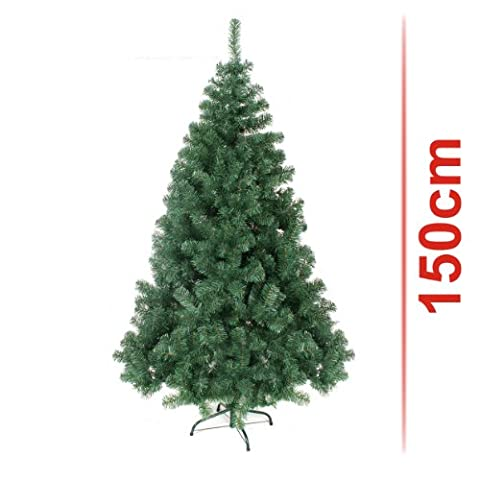 Classic Artificial Realistic Natural Branches Pine Christmas Tree Xmas Green-Unlit 4FT, 5FT, 6FT,7FT,7.5FT (5ft (150cm)) by (4 Ft Weihnachtsbaum)