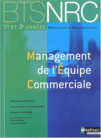 Management de l'équipe commerciale BTS NRC 1re et 2e années