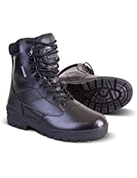 New Mens Army Military Combat Full All Leather Army Patrol Work Hiking Cadet Boot Black UK Size 3-13