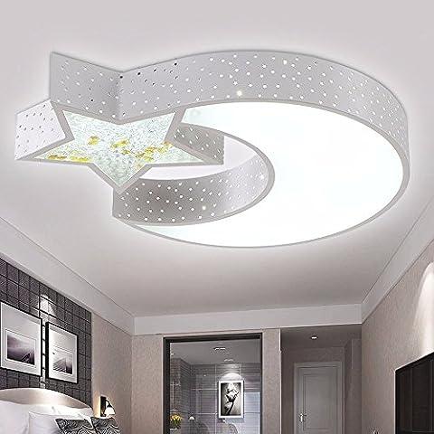 LED ceiling lamp moon stars children's lighting room lighting ideas boys and girls bedroom lamp,Tritone