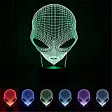 E-JIAEN LED Lumière de Nuit pour Bureau 3D USB Interrupteur Tactile coloré Sport Patterns Acrylique Lampe de Table Bar Art Déco, Acrylique, Aliens, Aliens
