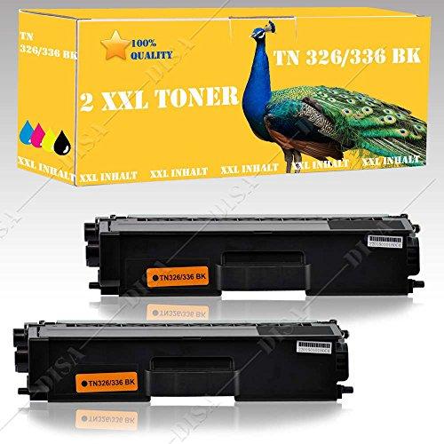Preisvergleich Produktbild 2x Toner SCHWARZ alternative zu TN326 TN336 BROTHER HL L8250 CDN / HL L8350 CDW / DCP L8400 CDN