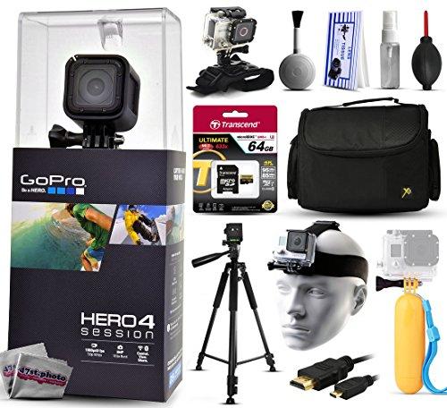 GoPro Hero 4hero4Session chdhs-101mit 64GB Ultra Memory + großes Gepolstertes Case + 60? Pro Series Stativ + geteiltes Halterung +...