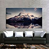 Total Home Mountain Reflections Poster No Framed Large Painting On Canvas Wall Art Picture For Home Decoration Wall Decor Poster