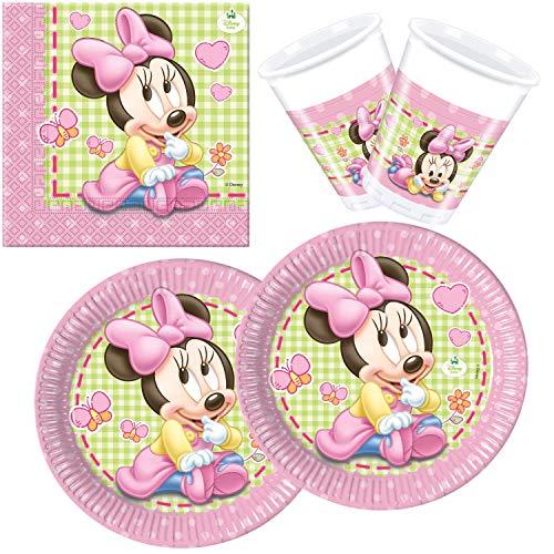 Procos 10108564B Kinderpartyset Disney Baby Minnie, Größe S, 36 teilig (Baby Minnie Maus Geburtstag Party)