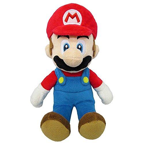 Super Mario - Peluche Mario con licencia oficial de Nintendo, 20 cm (AGMSM6P-01M)