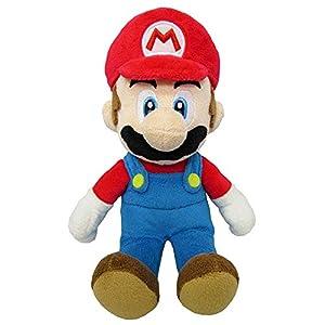 Super Mario - Peluche Mario con licencia oficial de Nintendo, 20 cm (AGMSM6P-01M) , Modelos/colores Surtidos, 1 Unidad