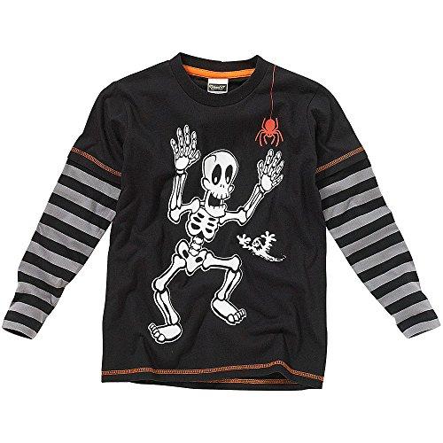 Halloween & Christmas Kidswear - Camiseta de manga larga - para niño Negro negro