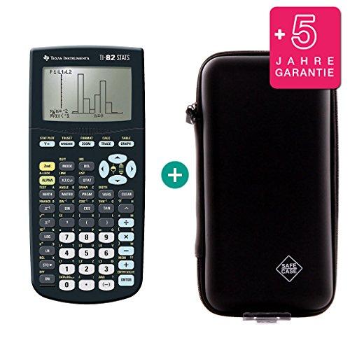 Texas Instruments TI-82 Stats + Erweiterte Garantie + Schutztasche (Texa Instruments Taschenrechner)