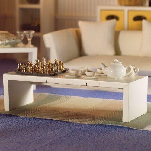 Dolls House moderno Tavolino salotto bianco 1:12 per casa delle ...