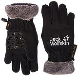Jack Wolfskin Kinder Softshell Highloft Glove Kids Handschuhe, schwarz (Black), 140