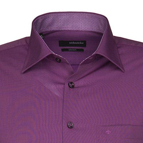 Seidensticker chemise pour homme coupe regular fit splendesto 1/1 bras - 01.187426 infroissable Prune
