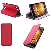 Rosso Custodia Pelle per Huawei Ascend G535 4G smartphone -