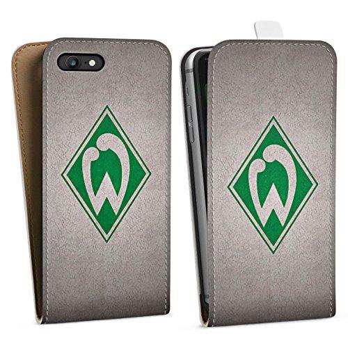 Apple iPhone 7 Hülle Case Handyhülle SV Werder Bremen Fanartikel Merchandise Fußball Downflip Tasche weiß