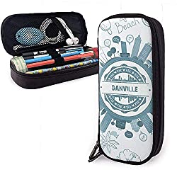 Danville Kentucky Hohe Kapazität Leder Federmäppchen Bleistift Stift Schreibwaren Halter Box Organizer Büro Filzstift Tragbare Kosmetiktasche