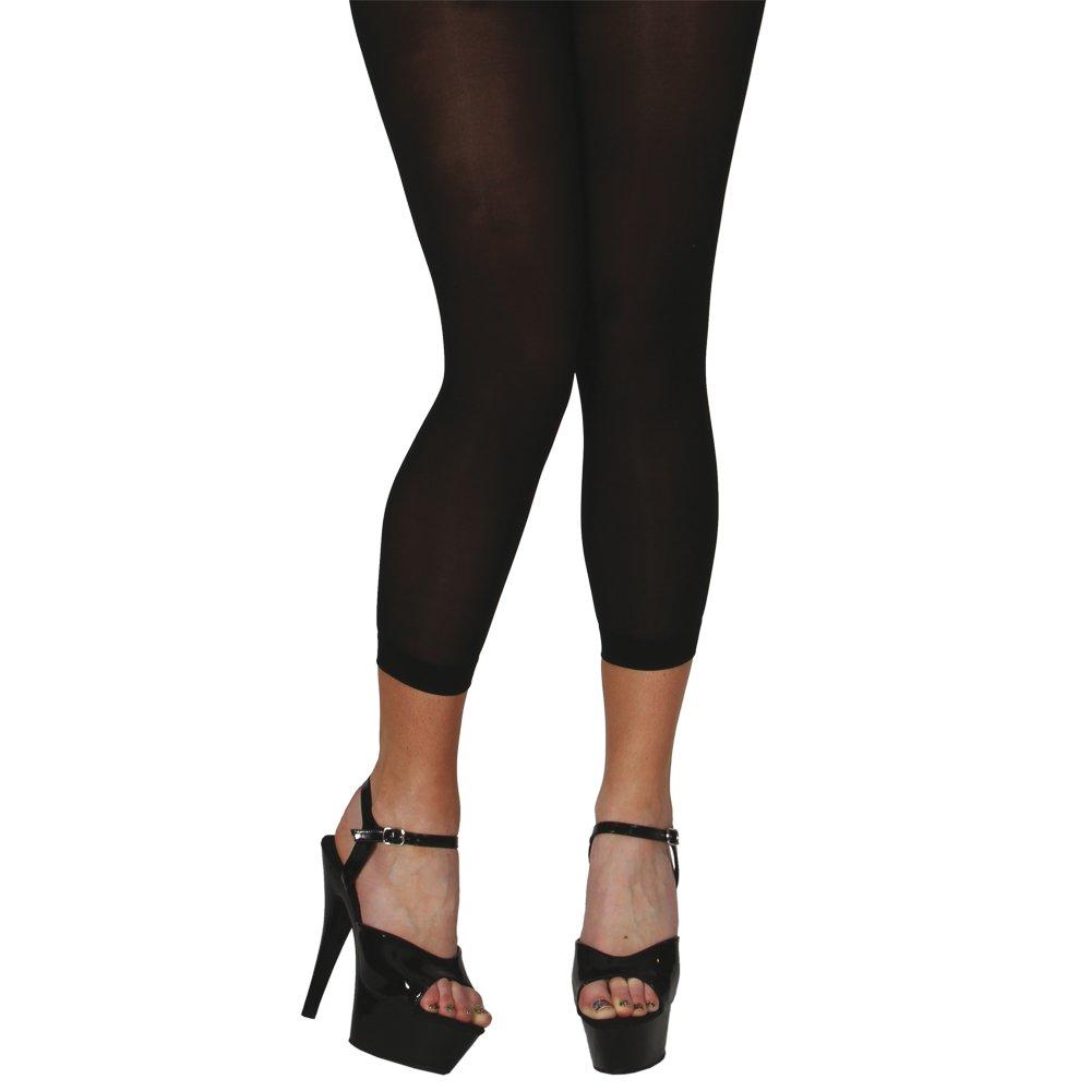 Wicked - Calze senza piedi da 40 d, taglia unica, colore: Nero