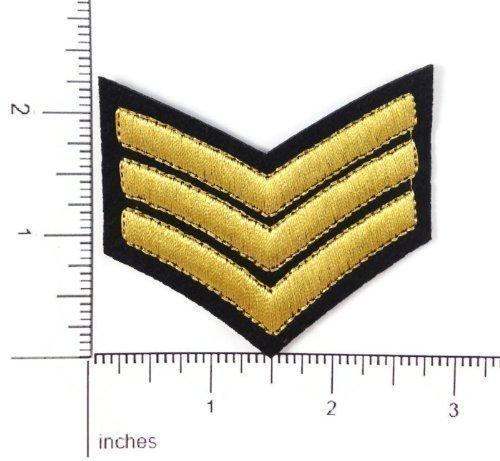 Kostüm Militär Army Sergeant Rank DIY Aufbügler Aufnäher (Militär Kostüm Diy)