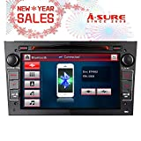 A-SURE Autoradio DVD GPS Navigation für Corsa, Astra, Vectra, Zafira, Antara, Meriva, Vivaro I, Unterstützt Mirrorlink DAB Bluetooth, 7