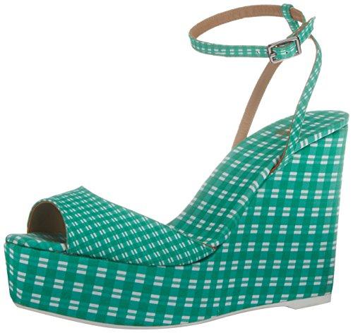 Castaner Zula/125, chaussure à semelle compensée femme vert (24 VERDE)